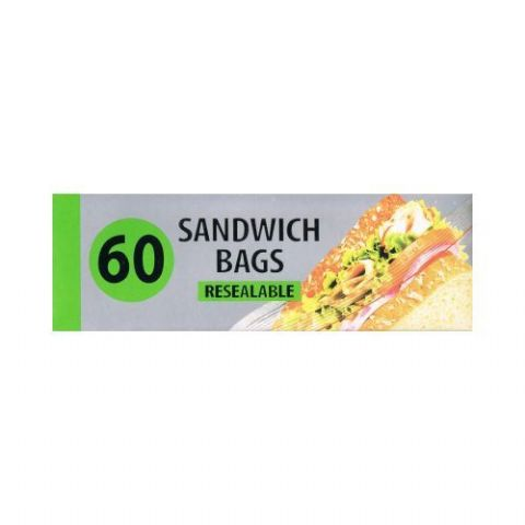 Sandwich Size Food Bags - 50 Small Resealable